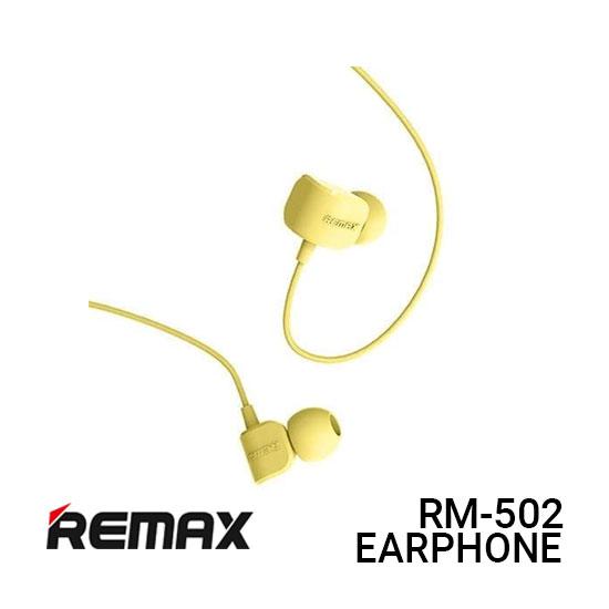 Jual Remax Earphone Crazy Robot RM-502 - Yellow Harga Murah
