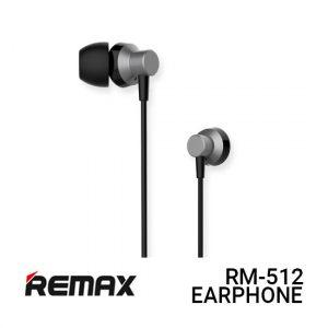Jual Remax Earphone Metal RM-512 - Black Harga Murah dan Spesifikasi