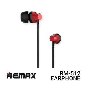 Jual Remax Earphone Metal RM-512 - Red Harga Murah dan Spesifikasi