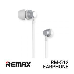 Jual Remax Earphone Metal RM-512 - Silver Harga Murah dan Spesifikasi