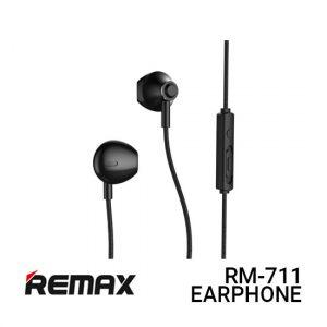 Jual Remax Earphone RM-711 - Black Harga Murah dan Spesifikasi