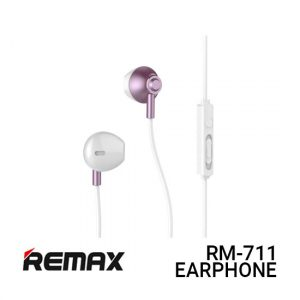 Jual Remax Earphone RM-711 - Pink Harga Murah dan Spesifikasi