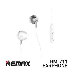 Jual Remax Earphone RM-711 - Silver Harga Murah dan Spesifikasi