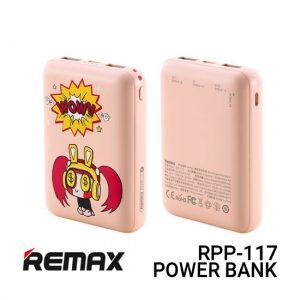 Jual Remax Power Bank RPP-117 Ritry - Pink Harga Murah dan Spesifikasi