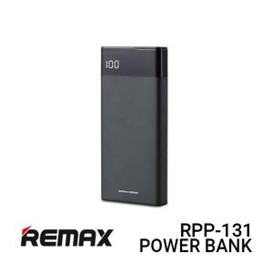 Jual Remax Power Bank RPP-131 Renor - Black Harga Murah dan Spesifikasi