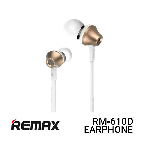 Jual Remax RM-610D Earphone Functional - Gold Harga Murah