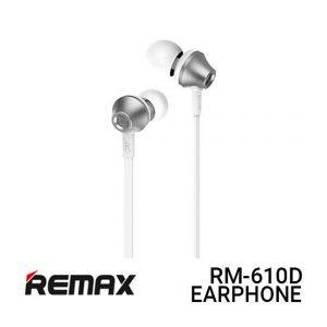 Jual Remax RM-610D Earphone Functional - Silver Harga Murah