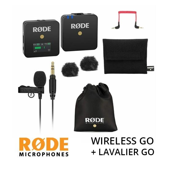 Jual RODE Wireless GO plus Lavalier GO Microphone