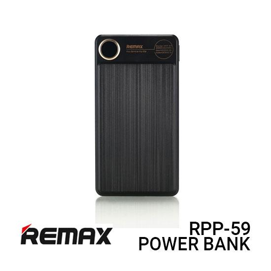 Remax RPP-59 Power Bank 20000MAH Kooker - Black Harga Murah