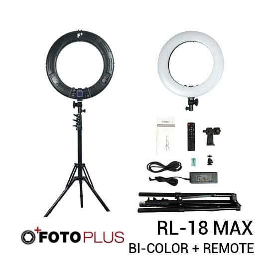 Fotoplus Ring Light RL-18 Max LED Black new thumb