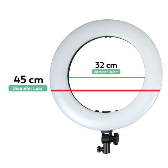 Jual Fotoplus Ring Light RL-18 Max LED Pink Harga Murah Terbaik dan Spesifikasi