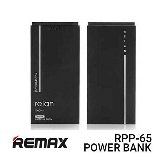 Jual Remax Power Bank RPP-65 Relan - Black Harga Murah dan Spesifikasi.