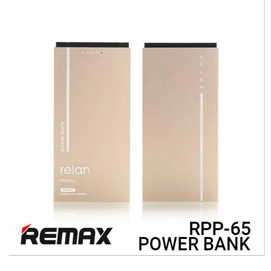 Jual Remax Power Bank RPP-65 Relan - Gold Harga Murah dan Spesifikasi