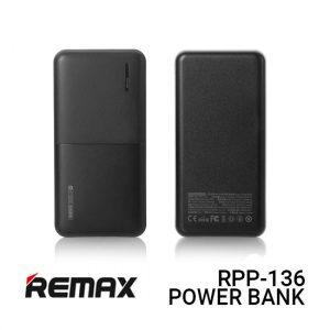 Jual Remax PowerBank RPP-136 Linon 2 Series - Black Harga dan Spesifikasi