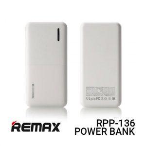 Jual Remax PowerBank RPP-136 Linon 2 Series - White Harga dan Spesifikasi