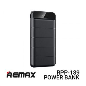 Jual Remax PowerBank RPP-139 Leader - Black Harga Murah dan Spesifikasi