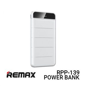 Jual Remax PowerBank RPP-139 Leader - White Harga Murah dan Spesifikasi