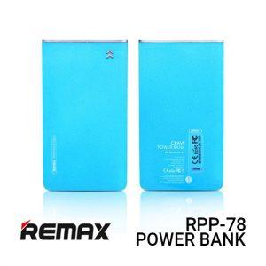 Jual Remax Powerbank Slim RPP-78 Crave - Blue Harga Murah dan Spesifikas
