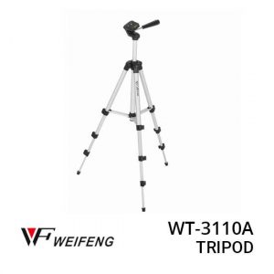 JUAL Weifeng WT-3110A Tripod Stand 4-Section Aluminium With Brace