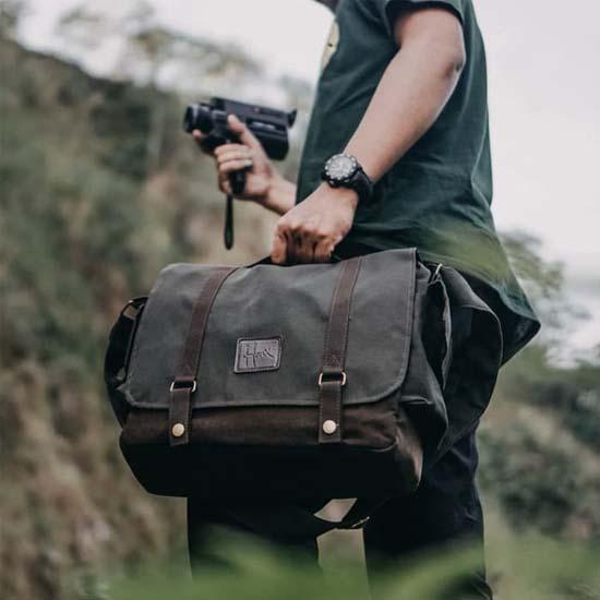 Jual HONX HNX 005 Sling Bag Green Brown Harga Murah dan Spesifikasi