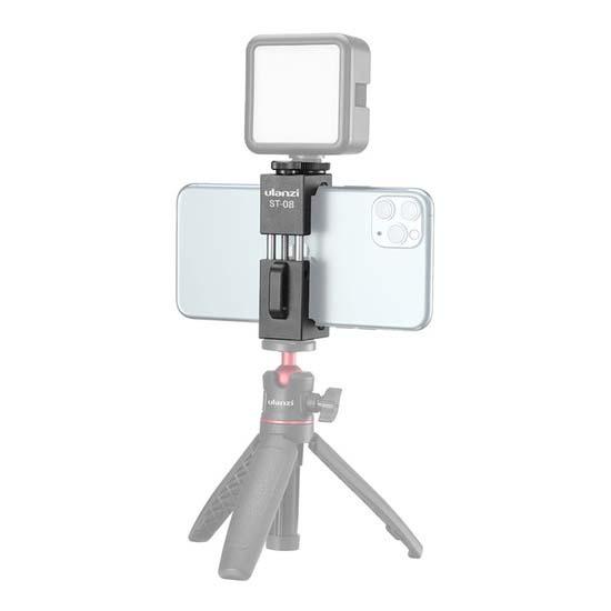 Jual Ulanzi ST-08 Smartphone Tripod Mount with Cold Shoe Harga Murah dan Spesifikasi