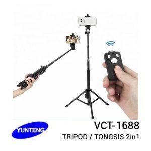 Jual Yunteng VCT-1688 Bluetooth Tripod Tongsis 2in1 Harga Murah dan Spesifikasi