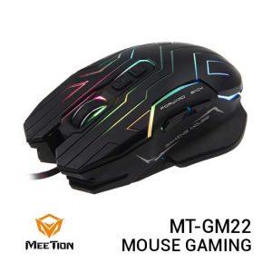 Jual MEETION MT-GM22 Mouse Gaming Polychrome Light Black Harga Murah dan Spesifikasi