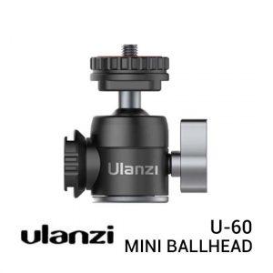 Jual Ulanzi U-60 Mini Ballhead with Dual Coldshoe Harga Murah dan Spesifikasi
