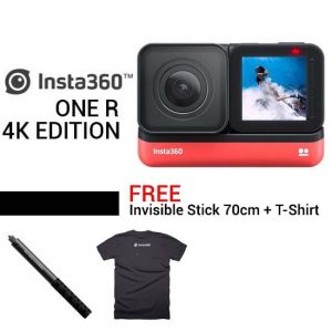 Insta360 ONE R 4K Edition new update Free Invisible Stick 70cm + T-Shirt