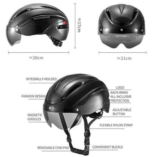Detail helm Rockbros WT-018S-W Helmet Harga Murah dan Spesifikasi