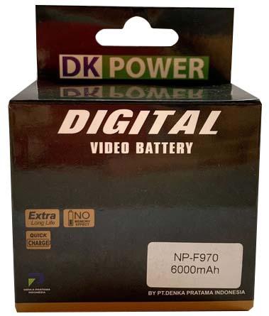 Jual DK Power BATTERY NP-F970 6000mAh Harga Murah dan Spesifikasi