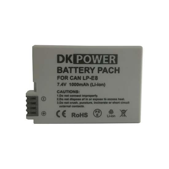 Jual DK Power Battery LP-E8 1000mAh Harga Murah dan Spesifikasi