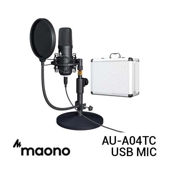 Jual Maono AU-A04TC Standing USB Mic with Hardcase Harga Murah dan Spesifikasi