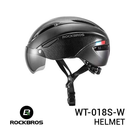 Jual Rockbros WT-018S-W Helmet Black Harga Murah dan Spesifikasi
