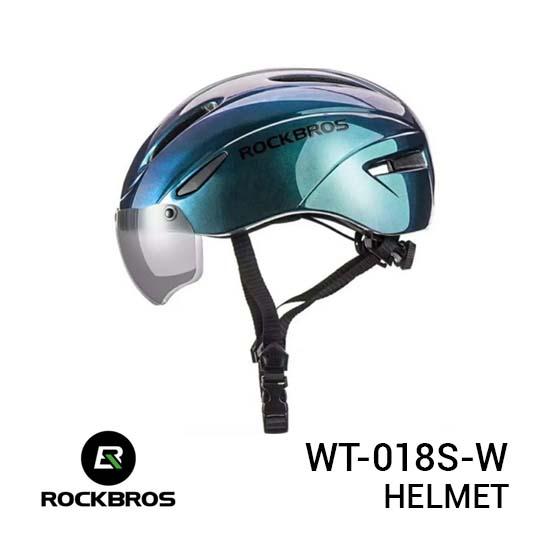 Jual Rockbros WT-018S-W Helmet Blue Harga Murah dan Spesifikasi