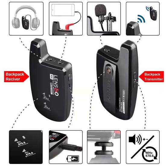 Jual Lensgo LWM-308C Double Wireless Microphone Harga Murah dan Spesifikasi