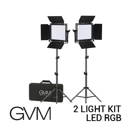 Jual GVM LED RGB 2 Light Kit with Remote 800D-RGB-2L Harga Terbaik dan Spesifikasi