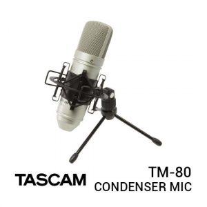 Jual Tascam TM-80 Condenser Microphone Silver Harga Terbaik dan Spesifikasi