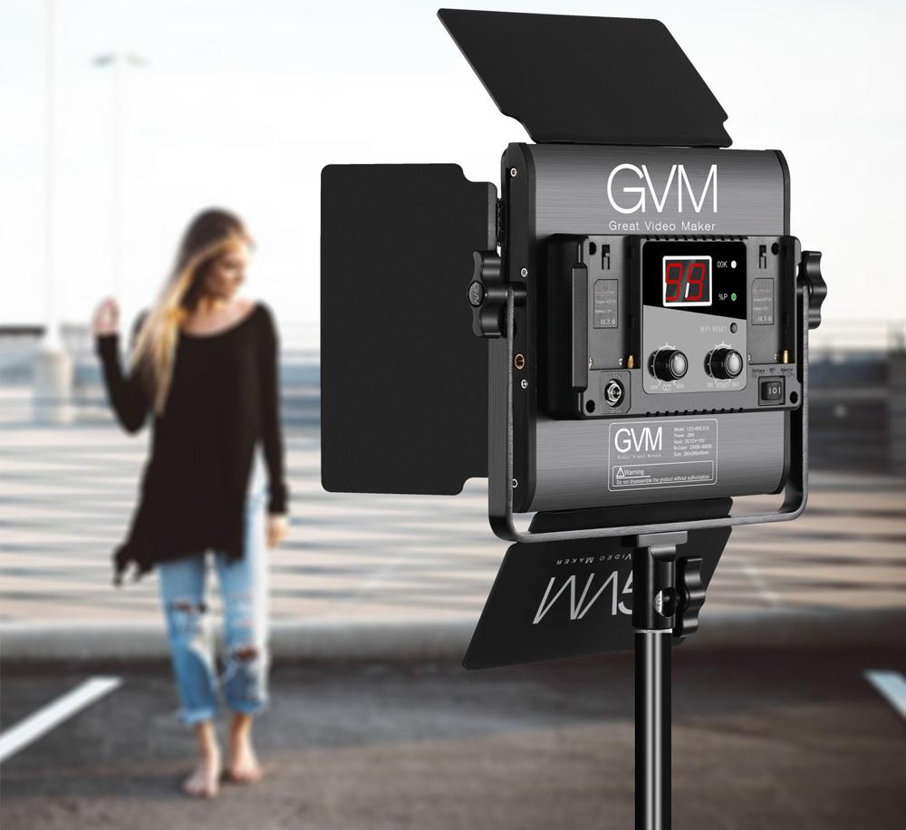 GVM LED Bi-Color Light 480LS-B, Ringan dan tahan lama, Memiliki Rentang dua warna variabel dari 2300K-6800K, Lumen tinggi :15000Lux/20inch