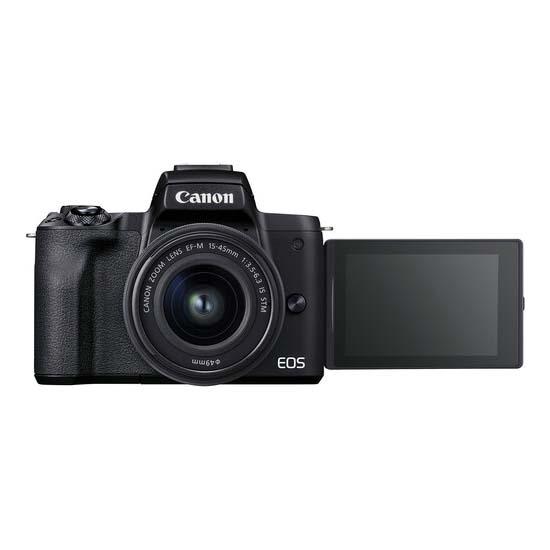 Jual Canon EOS M50 Mark II Kit 15-45mm Black Harga Terbaik dan Spesifikasi