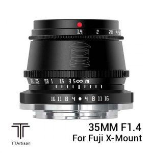 Jual TTArtisans 35mm F1.4 for Fuji X-Mount Black Harga Murah dan Spesifikasi