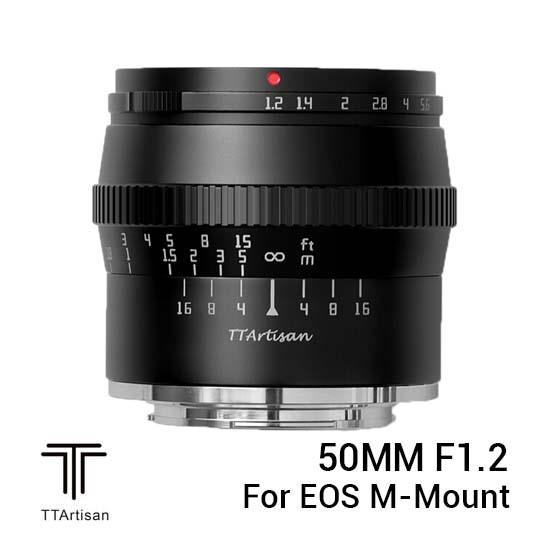 Jual TTArtisans 50mm F1.2 for EOS M-Mount Black Harga Murah dan Spesifikasi