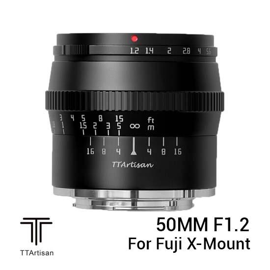 Jual TTArtisans 50mm F1.2 for Fuji X Mount Black Harga Murah dan Spesifikasi