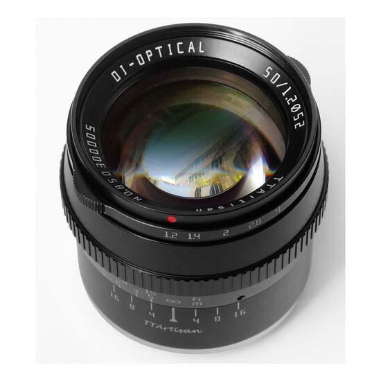 Jual TTArtisans 50mm F1.2 for Sony E-Mount Black Harga Murah dan Spesifikasi