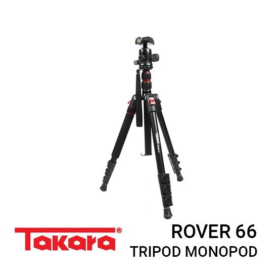 Jual Takara Rover 66 Tripod Harga murah terbaik dan Spesifikasi, Desain compact yang kecil dan mudah dibawa kemana-mana, Support for Lens Stand & Action Cam
