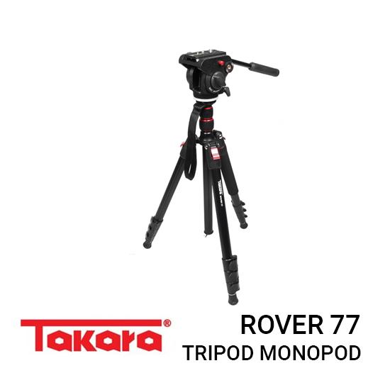 Jual Takara Rover 77 Tripod Harga murah terbaik dan Spesifikasi, Desain compact yang kecil dan mudah dibawa kemana-mana, Support for Lens Stand & Action Cam