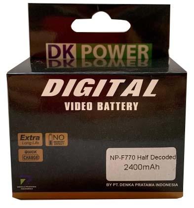 Jual DK Power BATTERY NP-F770 2400mAh Harga Murah dan Spesifikasi
