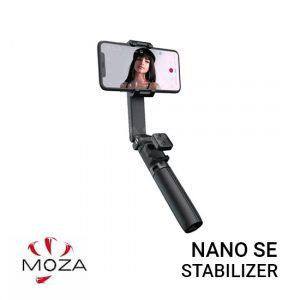 Jual Moza Nano SE [Black] Harga Murah dan Spesifikasi.Trendy Colors to Match Your Style, kuat dan ringan, Intelligent Selfie Extendable Gimbal