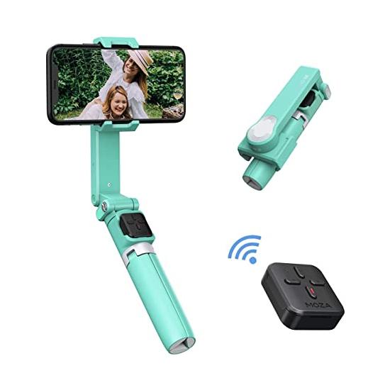 Jual Moza Nano SE [Green] Harga Murah dan Spesifikasi. Trendy Colors to Match Your Style, kuat dan ringan, Intelligent Selfie Extendable Gimbal