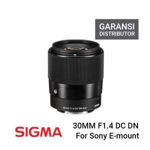 Jual Sigma 30mm f 1.4 DC DN for Sony Garansi Distributor Harga Murah. E-Mount Lens/APS-C Format, 45mm (35mm Equivalent), Aperture Range: f/1.4 to f/16.
